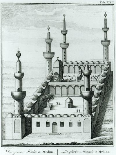 View of the Great Mosque at Medina before the Desecration of the Tombs by the Wahhabi Sect, from…--Giclee Print