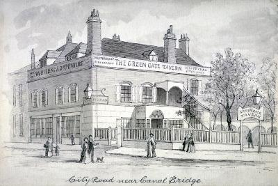 View of the Green Gate Tavern, City Road, Finsbury, C1850--Giclee Print