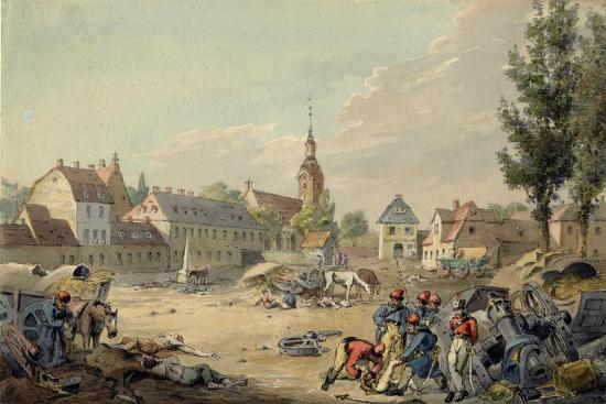 View of the Grimma Suburb, Leipzig, 1813-John Augustus Atkinson-Giclee Print