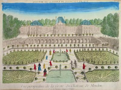 View of the Grotto at the Chateau of Meudon--Giclee Print