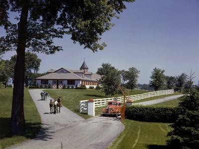 View of the Grounds at Calumet Farm, Where Race Horses are Held-B^ Anthony Stewart-Photographic Print