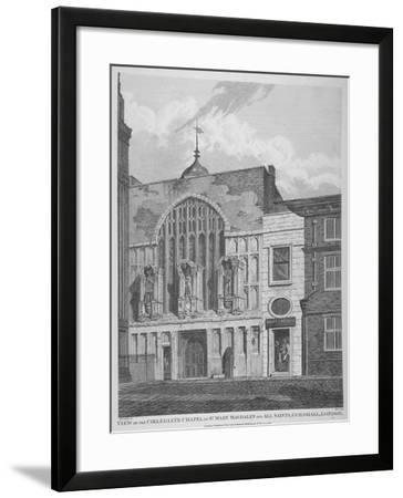 View of the Guildhall Chapel, Giving its Original Dedication, City of London, 1815-William Wise-Framed Giclee Print