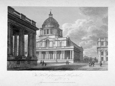 View of the Hall of Greenwich Hospital, London, 1804-James Sargant Storer-Giclee Print