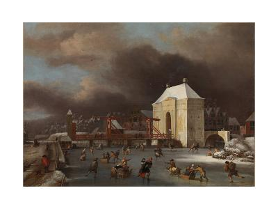 View of the Heiligewegspoort in Amsterdam-Jan van Kessel-Giclee Print