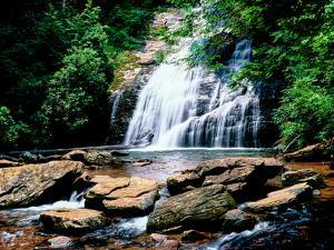 View of the Helton Creek Falls, Chattahoochee-Oconee National Forest, Georgia, USA