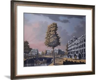 View of the Herengracht Overlooking Binnenamstel and the Nieuwe Herengracht, Amsterdam, 1776-Jonas Zeuner-Framed Giclee Print