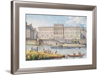 View of the Hotel Des Monnaies at the Confluence of the Two Branches of the Seine-Victor Jean Nicolle-Framed Giclee Print