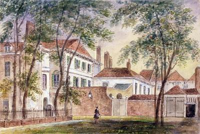 View of the House and Museum of the Late Duchess of Portland (1715-1785) 1796-John Bromley-Giclee Print