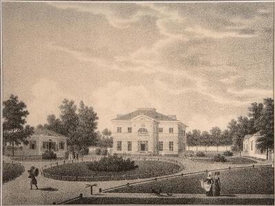 View of the House of Princess Natalya Petrovna Galitzine (1741-183) in the Gorodnya Estate, 1820S-Semyon Prokhorovich Lukin-Giclee Print