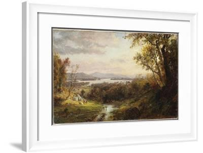 View of the Hudson, 1883-Jasper Francis Cropsey-Framed Giclee Print