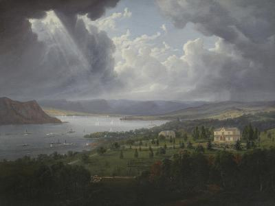 View of the Hudson River from Tarrytown Heights-Robert The Younger Havell-Giclee Print