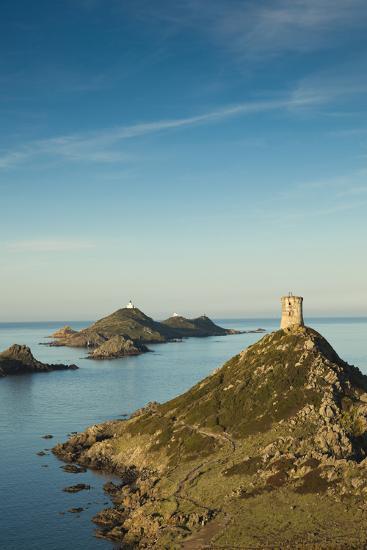 View of the Iles Sanguinaires at Dawn, Ajaccio, Corsica, France-Walter Bibikow-Photographic Print