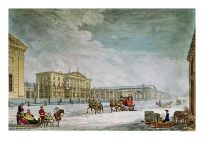 View of the Imperial Bank and the Shops at St. Petersburg- Mornay-Giclee Print