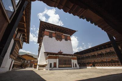 View of the Interior Courtyard at the Taktsang Monastery-Roberto Moiola-Photographic Print