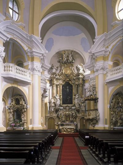 View of the Interior of the Church of St. Mary Magdalene, Karlovy Vary, Czech Republic--Photographic Print