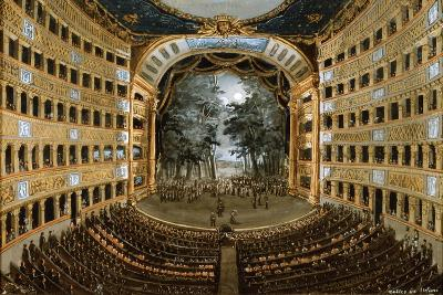 View of the Interior of the Teatro San Carlo, Naples, 19th Century--Giclee Print
