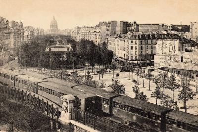 View of the Invalides and Avenue De Breteuil with Metro Train, Paris, 1910--Photographic Print