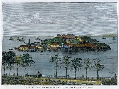 View of the Isle of Serpents, in the Bay of Rio De Janeiro, Brazil, C1880--Giclee Print