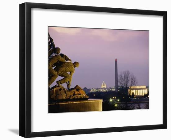 View of the Iwo Jima Monument-Kenneth Garrett-Framed Photographic Print