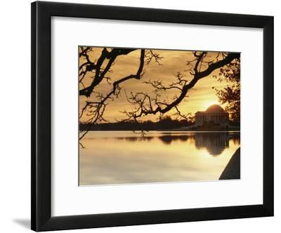 View of the Jefferson Memorial at Twilight-Richard Nowitz-Framed Photographic Print