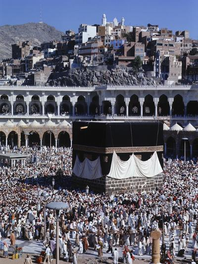 View of the Kaaba in the Courtyard of the Main Mosque--Photographic Print