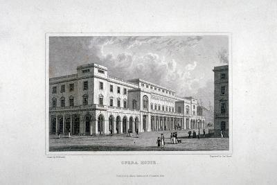 View of the King's Theatre, Haymarket, London, 1837-Charles Heath-Giclee Print