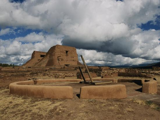 View of the Kiva and Church at Pecos National Historical Park-Ira Block-Photographic Print