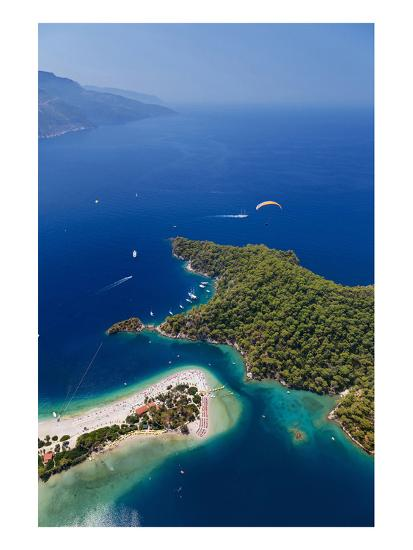 View of the Lagoon of Oludeniz near Fethiye, Mugla Province, Lycia, Turkey--Art Print