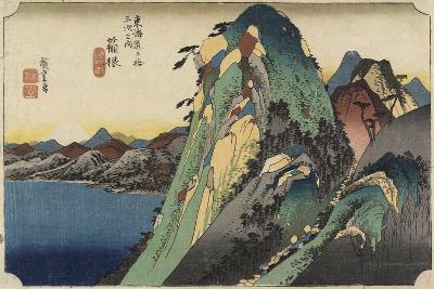 View of the Lake, Hakone, C. 1833-Utagawa Hiroshige-Giclee Print
