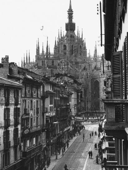 View of the Landscape of Milan with the Cathedral Dominating the Background-Carl Mydans-Photographic Print