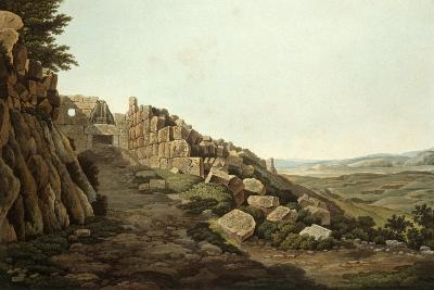 View of the Lion Gate of the Acropolis, 1821-Edward Dodwell-Giclee Print