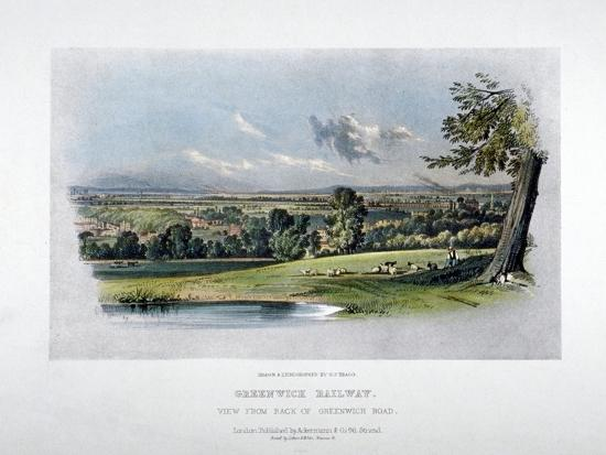 View of the London and Greenwich Railway from the Back of Greenwich Road, 1836-GF Bragg-Giclee Print