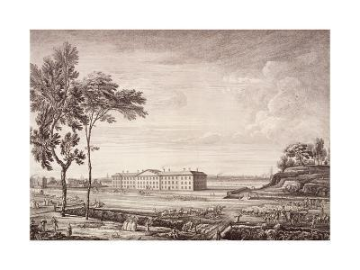 View of the London Hospital in Whitechapel Road, 1753-Jean Baptiste Claude Chatelain-Giclee Print