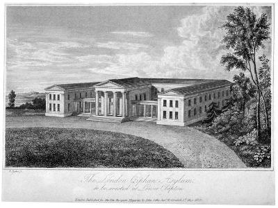 View of the London Orphan Asylum, Clapton, Hackney, London, 1823-R Baker-Giclee Print