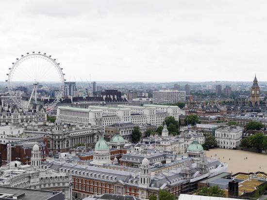 View of the London Skyline Featuring the London Eye-xPacifica-Photographic Print