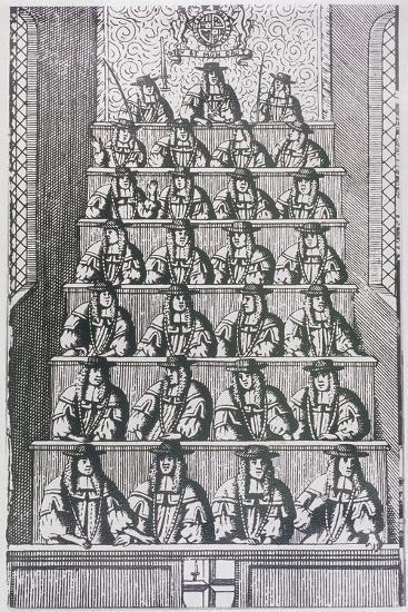 View of the Lord Mayor and Court of Aldermen, Depicted in 1681, (C195)--Giclee Print
