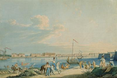 View of the Marble Palace and the North Side of the Peter and Paul Fortress, St. Petersburg-Christian Gottlob Hammer-Giclee Print