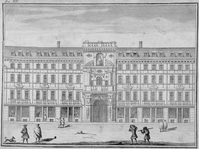 View of the Mercers' Company Hall and Chapel, Cheapside, City of London, 1690--Giclee Print