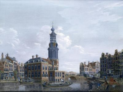 View of the Mint Tower at Amsterdam, 1777-Isaak Ouwater-Giclee Print