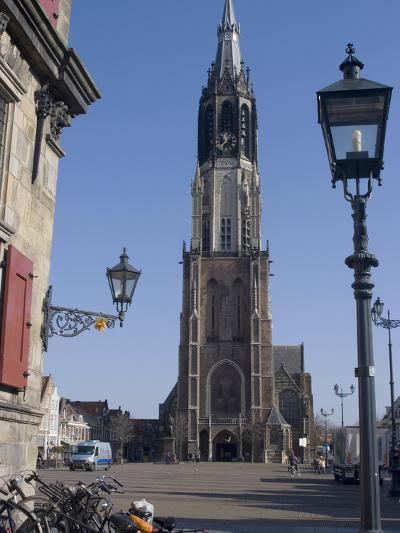 View of the Nieuwe Kerk (New Church) on the Market Square, Delft, Netherlands, Europe-Ethel Davies-Photographic Print
