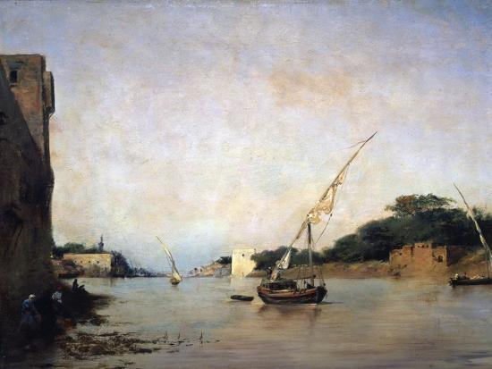 View of the Nile, 19th Century-Eugene Fromentin-Giclee Print