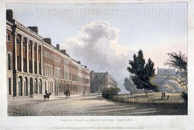 View of the North Side of Grosvenor Square, Westminster, London, 1813--Giclee Print