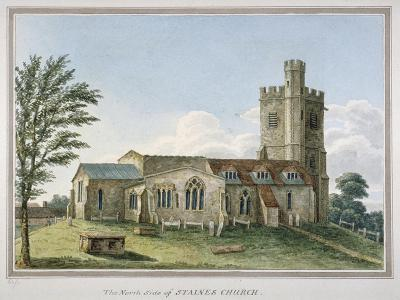 View of the North Side of the Church of St Mary, Staines, Surrey, C1800--Giclee Print