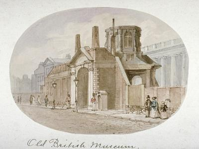 View of the Old British Museum, Bloomsbury, London, 1850-James Findlay-Giclee Print