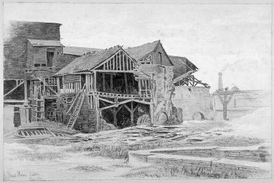 View of the Old Lime Works, Nine Elms, Battersea, London, 1875-Philip Howard-Giclee Print