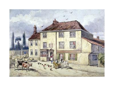 View of the Old Pied Bull Inn, Islington, London, C1840-Frederick Napoleon Shepherd-Giclee Print