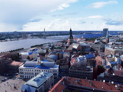 View of the Old Town and the Daugava River, from St. Peter Church, Riga, Latvia, Baltic States-Yadid Levy-Photographic Print