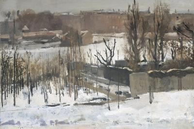 View of the Oosterpark in Amsterdam in the Snow, 1892-Georg-Hendrik Breitner-Giclee Print