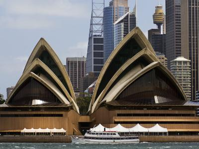 View of the Opera House and Downtown Sydney from the Harbor-Mattias Klum-Photographic Print