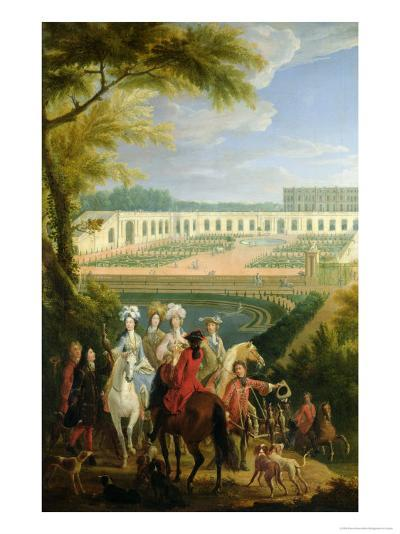 View of the Orangerie at Versailles, After 1697-Pierre-Denis Martin-Giclee Print